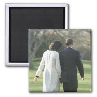 President Barack Obama and First Lady Michelle Fridge Magnet