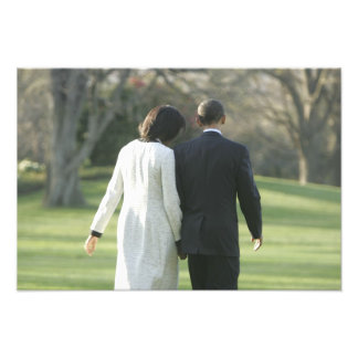 President Barack Obama and First Lady Michelle Photo Print