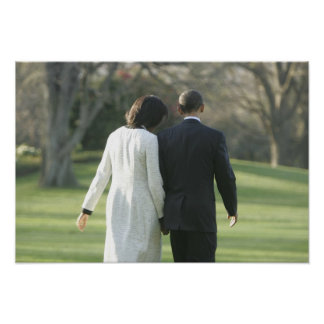 President Barack Obama and First Lady Michelle Poster