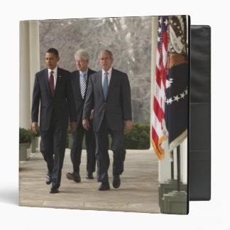 President Barack Obama and former presidents 3 Ring Binders