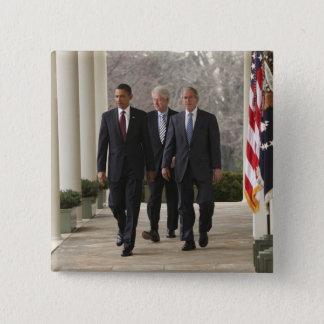 President Barack Obama and former presidents Button