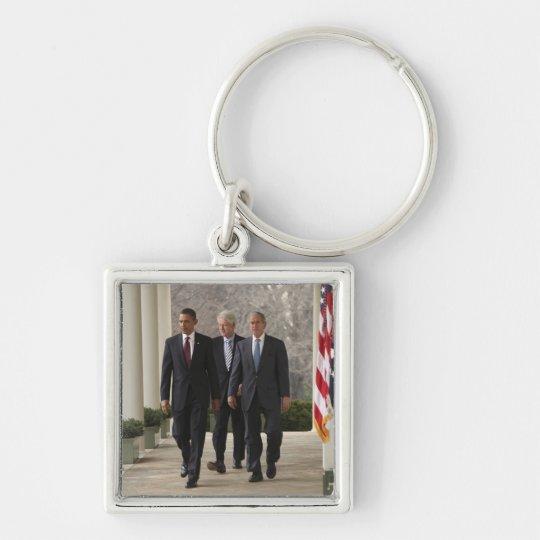 President Barack Obama and former presidents Keychain