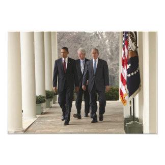 President Barack Obama and former presidents Photo Print