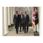 President Barack Obama and former presidents Postcard
