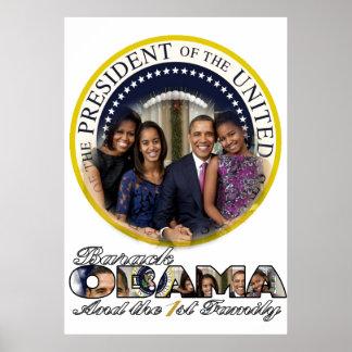 President Barack Obama and the 1st Family Print