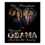 President Barack Obama and the 1st Family Poster