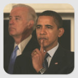 President Barack Obama and Vice President Square Stickers