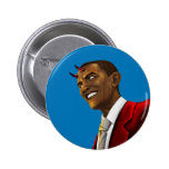 President Barack Obama as the Devil Halloween Pinback Button