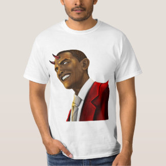 President Barack Obama as the Devil Halloween T-Shirt