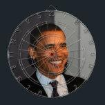 "President Barack Obama Bullseye Dart Board<br><div class=""desc"">President Barack Obama Bullseye</div>"