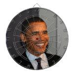 President Barack Obama Bullseye Dartboard With Darts