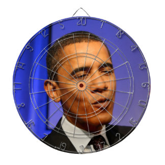 President Barack Obama Bullseye Dartboard With Darts