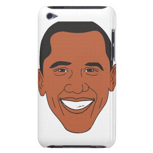 President Barack Obama Cartoon Face iPod Touch Cover