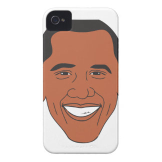 President Barack Obama Cartoon Face iPhone 4 Covers