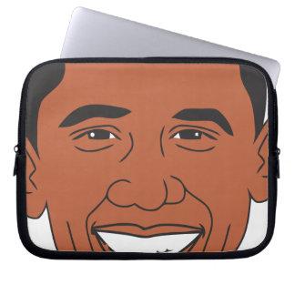 President Barack Obama Cartoon Face Laptop Sleeve