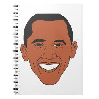 President Barack Obama Cartoon Face Notebook