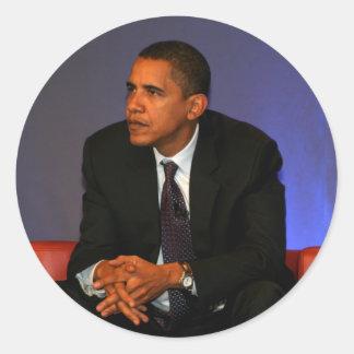 President Barack Obama Classic Round Sticker