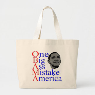 President Barack Obama Design Large Tote Bag