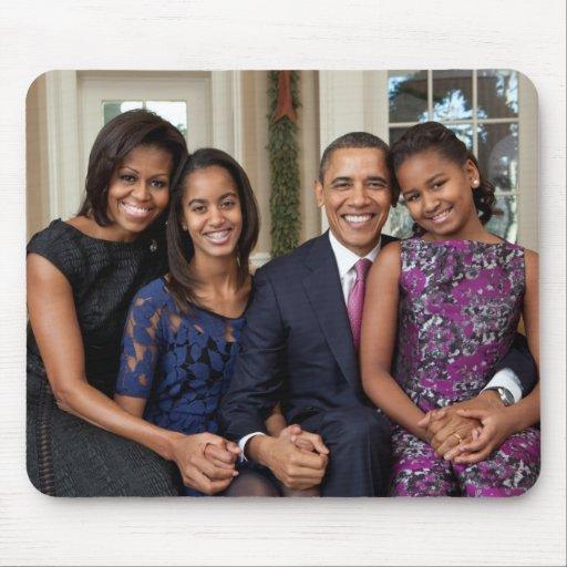 President Barack Obama & Family Mousepad