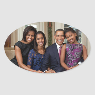 President Barack Obama & Family Oval Sticker