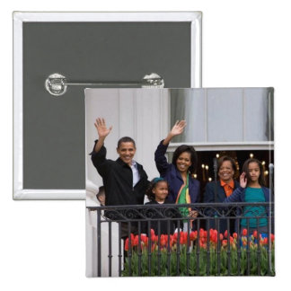 President Barack Obama & Family Pinback Button