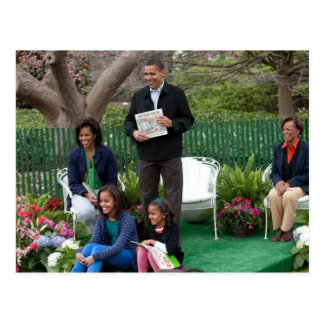 President Barack Obama & Family Postcard