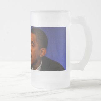 President Barack Obama Frosted Glass Beer Mug