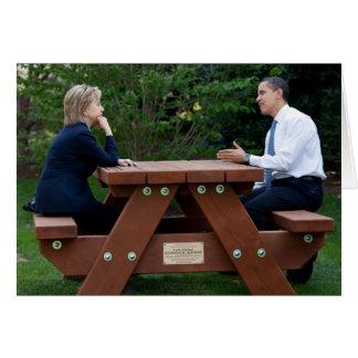 President Barack Obama & Hillary Clinton Greeting Card