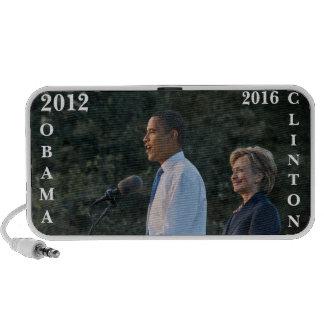 President Barack Obama & Hillary Clinton Mini Speakers