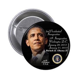 President Barack Obama II Inauguration 1-21-2013 Pinback Button