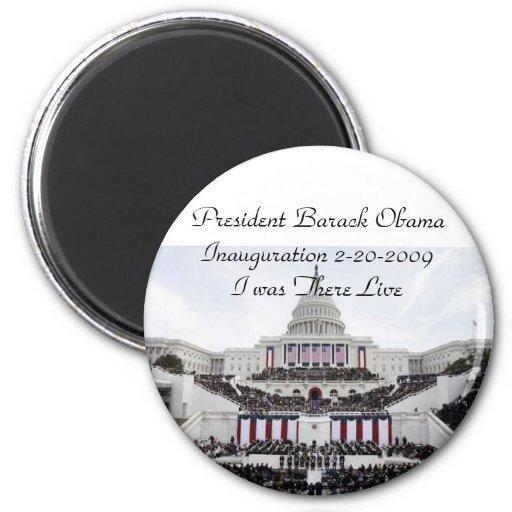 President Barack Obama inauguration 2009 Magnet