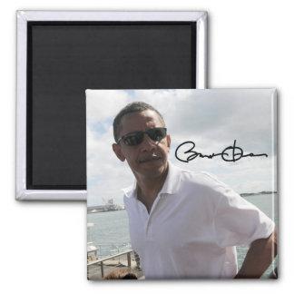 President Barack Obama 2 Inch Square Magnet
