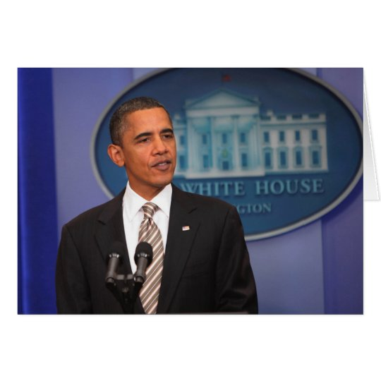 President Barack Obama makes an announcement