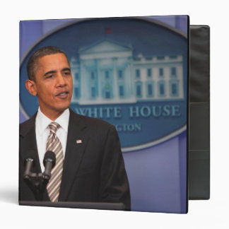 President Barack Obama makes an announcement 3 Ring Binders