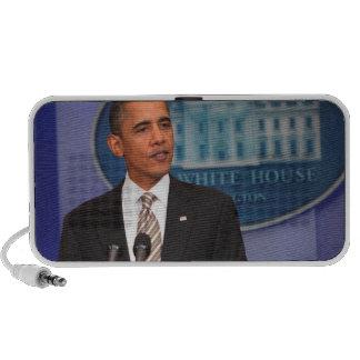 President Barack Obama makes an announcement Speaker