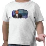 President Barack Obama makes an announcement Tee Shirts