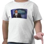 President Barack Obama makes an announcement Tshirts