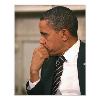 President Barack Obama meets with President Photo Print