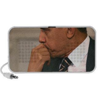 President Barack Obama meets with President iPod Speaker