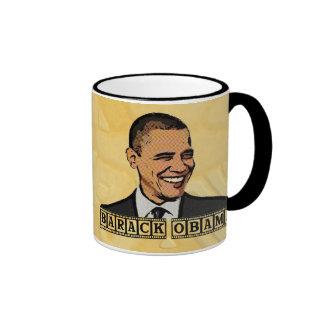 PRESIDENT BARACK OBAMA RINGER COFFEE MUG