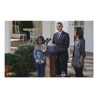 President Barack Obama pardons the Photo Print