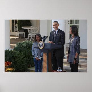 President Barack Obama pardons the Print