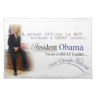 President Barack Obama - Placemats