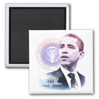 President Barack Obama Portrait 2 Inch Square Magnet