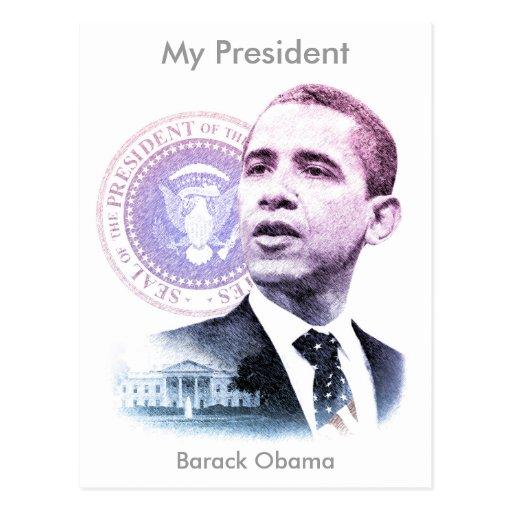 President Barack Obama Portrait Postcards
