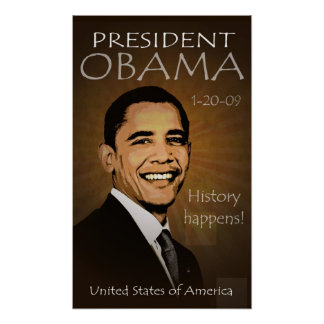 President Barack Obama Poster - Grunge