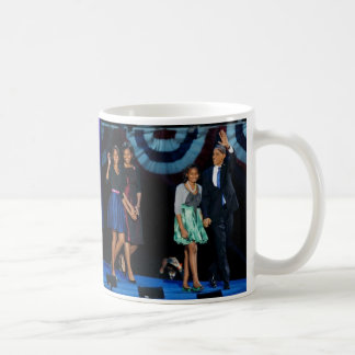 President Barack Obama Re-election with Family Mugs