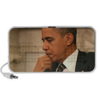 President Barack Obama reflects as he meets Travel Speaker