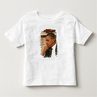President Barack Obama reflects as he meets Toddler T-shirt