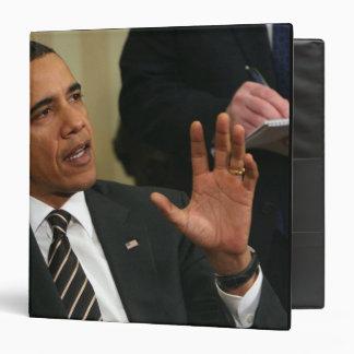 President Barack Obama talks to the press Vinyl Binders